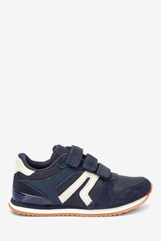 Navy Strap Touch Fastening Trainers (Older)