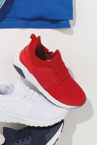 Red Elastic Lace Trainers (Older)