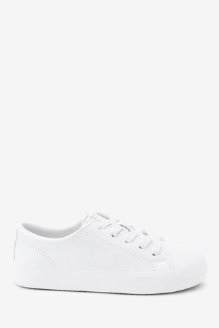 White Lace-Up Shoes (Older)