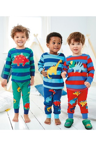 Multi 3 Pack Dinosaur Snuggle Pyjamas (9mths-8yrs)
