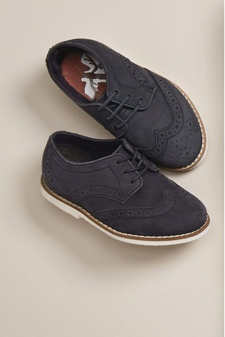 Navy Leather Brogues (Younger)
