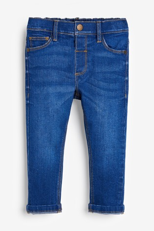 Bright Blue Regular Fit Jeans With Stretch (3mths-7yrs)