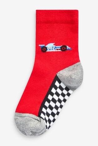 Mono 7 Pack Cotton Rich Race Car Socks (Younger)