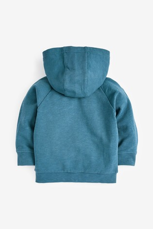 Mid Blue Lightweight Zip Through Hoody (3mths-7yrs)
