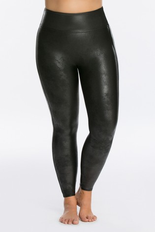 SPANX® Curve Medium Control Faux Leather Structured Leggings