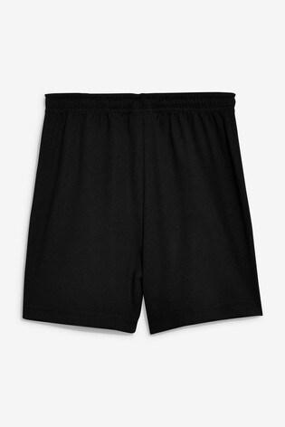 Black Football Shorts (3-16yrs)