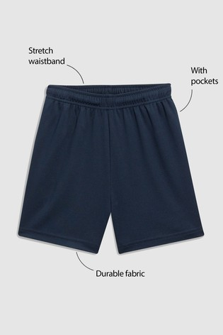 Navy Football Shorts (3-16yrs)