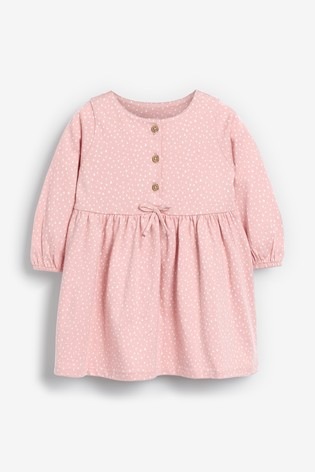 Pink Spot Jersey Dress (0mths-3yrs)
