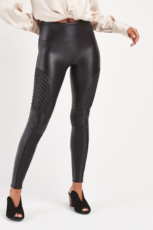 SPANX® Medium Control Faux Leather Moto Leggings