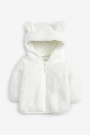 Ecru Fleece Jacket (0mths-2yrs)