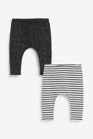 Monochrome 2 Pack Stretch Leggings (0mths-2yrs)