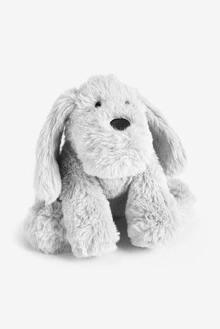 Grey Plush Toy Dog (Newborn)