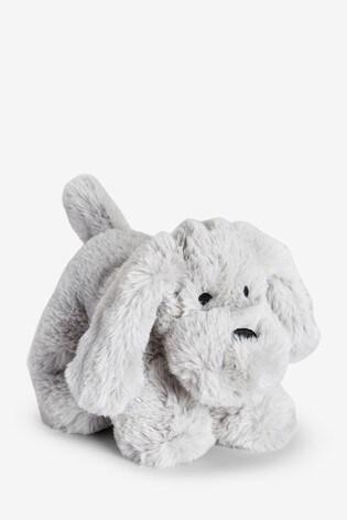 Grey Plush Toy Dog (Newborn)