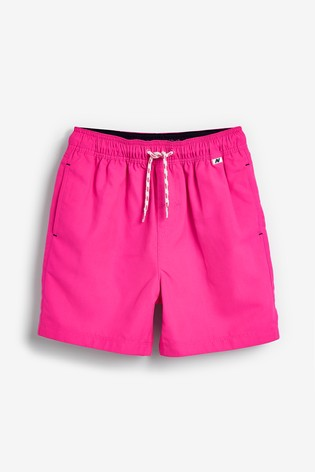 Fluro Pink Swim Shorts (1.5-16yrs)