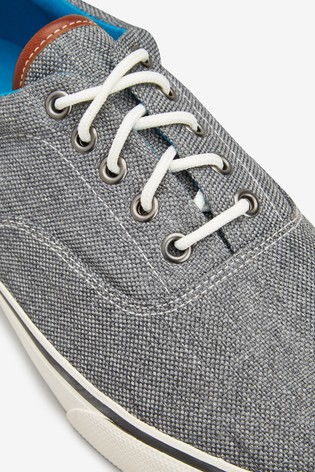 Buy Grey Canvas Pumps from Next USA