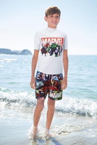 Multi Marvel® Printed Swim Shorts (3-12yrs)