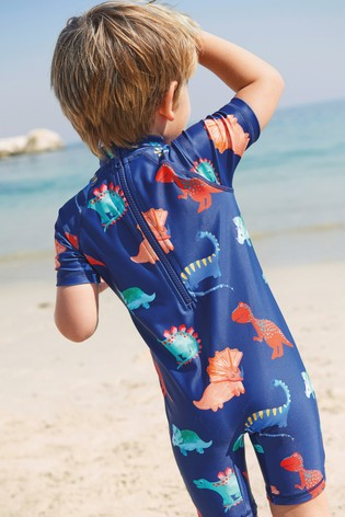 Navy Dino Sunsafe Swimsuit (3mths-7yrs)