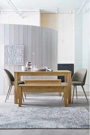 Ohara Dining Table And 2 Bench Set