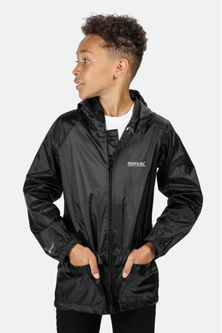 Regatta Black Kids Stormbreak Waterproof Puddle Jacket