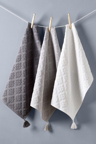 Set of 3 Mila Tile Kitchen Towels