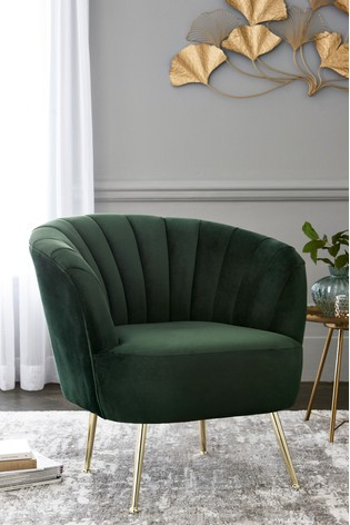 Stella Accent Chair With Gold Legs