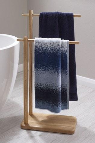 Oakley Antibacterial Free Standing Double Towel Rail