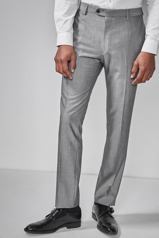 Light Grey Skinny Fit Suit: Trousers