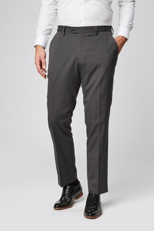 Charcoal Tailored Fit Suit: Trousers