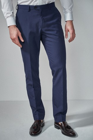 Bright Blue Tailored Fit Suit: Trousers