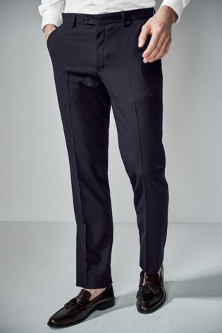 Navy Tailored Fit Suit: Trousers