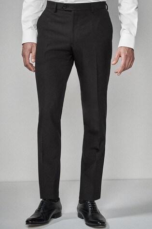 Black Skinny Fit Suit: Trousers