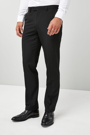 Black Regular Fit Tuxedo Suit Trousers