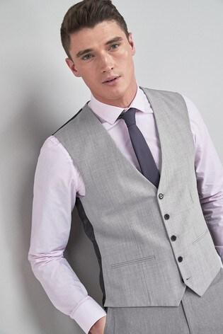 Light Grey Stretch Tonic Suit: Waistcoat