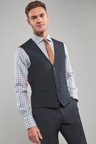 Bright Blue Stretch Tonic Suit: Waistcoat
