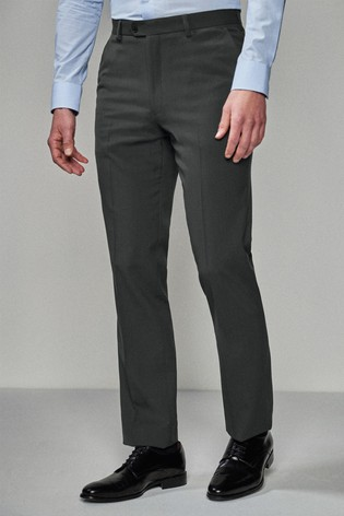 Charcoal Regular Fit Stretch Tonic Suit: Trousers