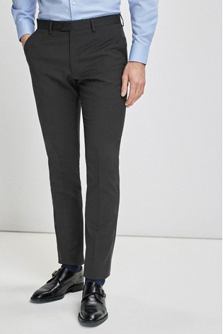 Charcoal Slim Fit Stretch Tonic Suit: Trousers