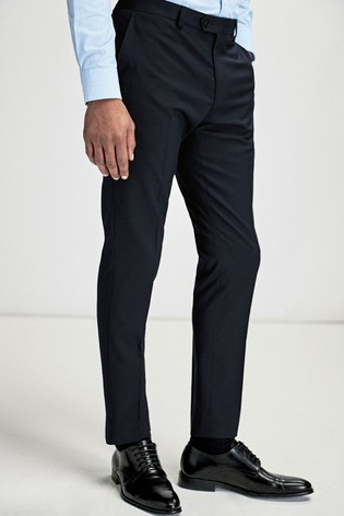 Navy Slim Fit Stretch Tonic Suit: Trousers