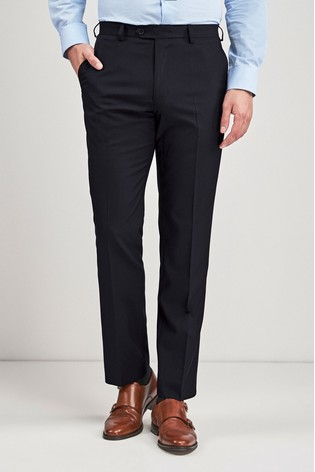 Navy Regular Fit Stretch Tonic Suit: Trousers