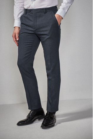 Navy Skinny Fit Puppytooth Suit: Trousers