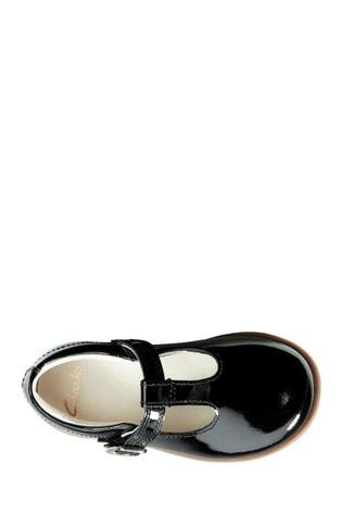 Buy Clarks Black Drew Shine T Shoes