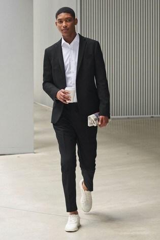 Black Jacket Motion Flex Slim Fit Suit