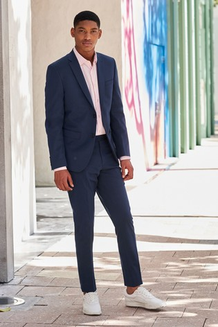 Bright Blue Jacket Motion Flex Slim Fit Suit