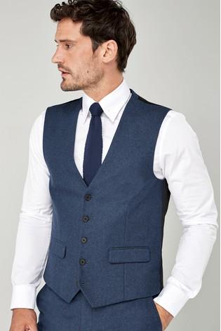 Bright Blue Flannel Suit: Waistcoat