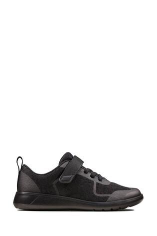 Clarks Black Interest Scape Bright K Shoes