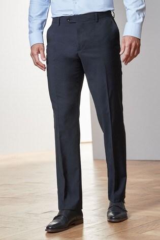 Navy Regular Fit Tollegno Signature Suit: Trousers
