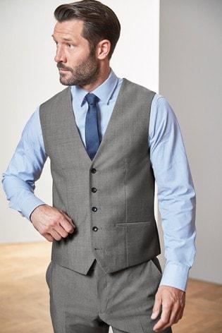 Light Grey Tollegno Signature Suit: Waistcoat