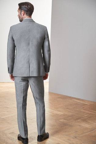 Light Grey Regular Fit Tollegno Signature Suit: Jacket