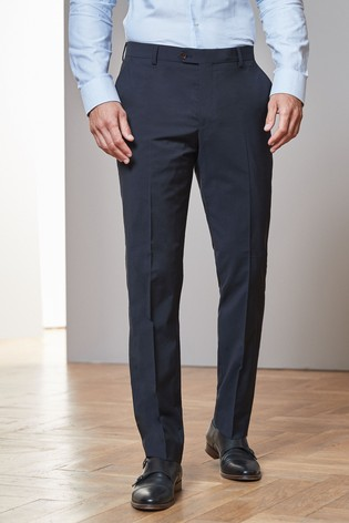 Navy Tailored Fit Tollegno Signature Suit: Trousers