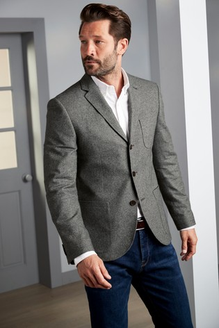 Light Grey Slim Fit Nova Fides Signature Three Button Blazer