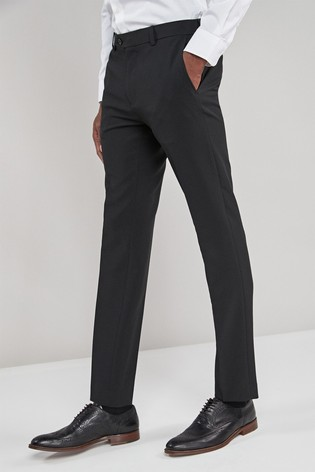 Black Super Skinny Fit Machine Washable Plain Front Trousers